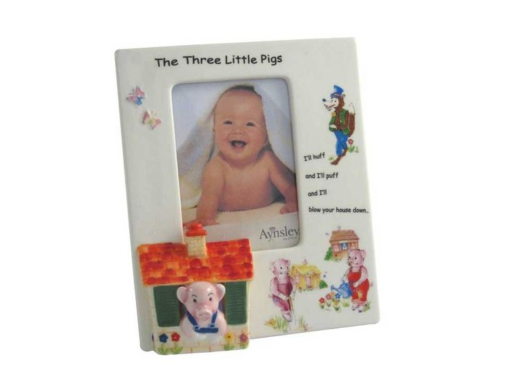 84 best gifts for all the children in your life images on pinterest aynsley baby gifts three little pigs photo frame fandeluxe Images
