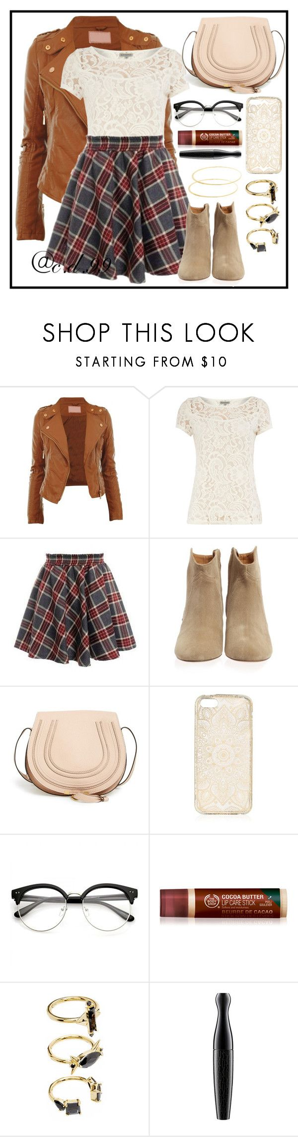 """Untitled #510"" by cutiedonut99 ❤ liked on Polyvore featuring Alice & You, Isabel Marant, Chloé, Noir Jewelry, MAC Cosmetics and Lana"