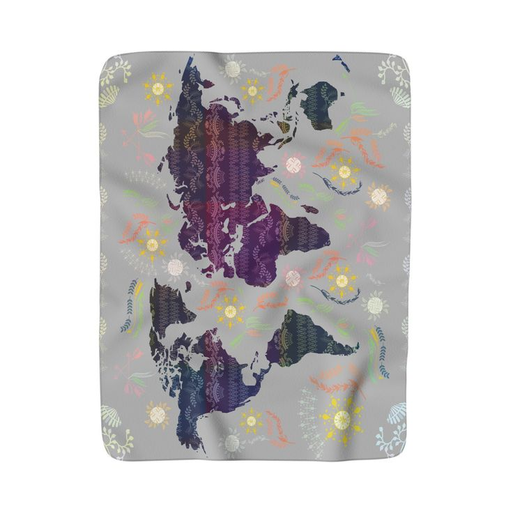 Best Throw Blanket Images On Pinterest Fleece Throw Hanging - World map blanket