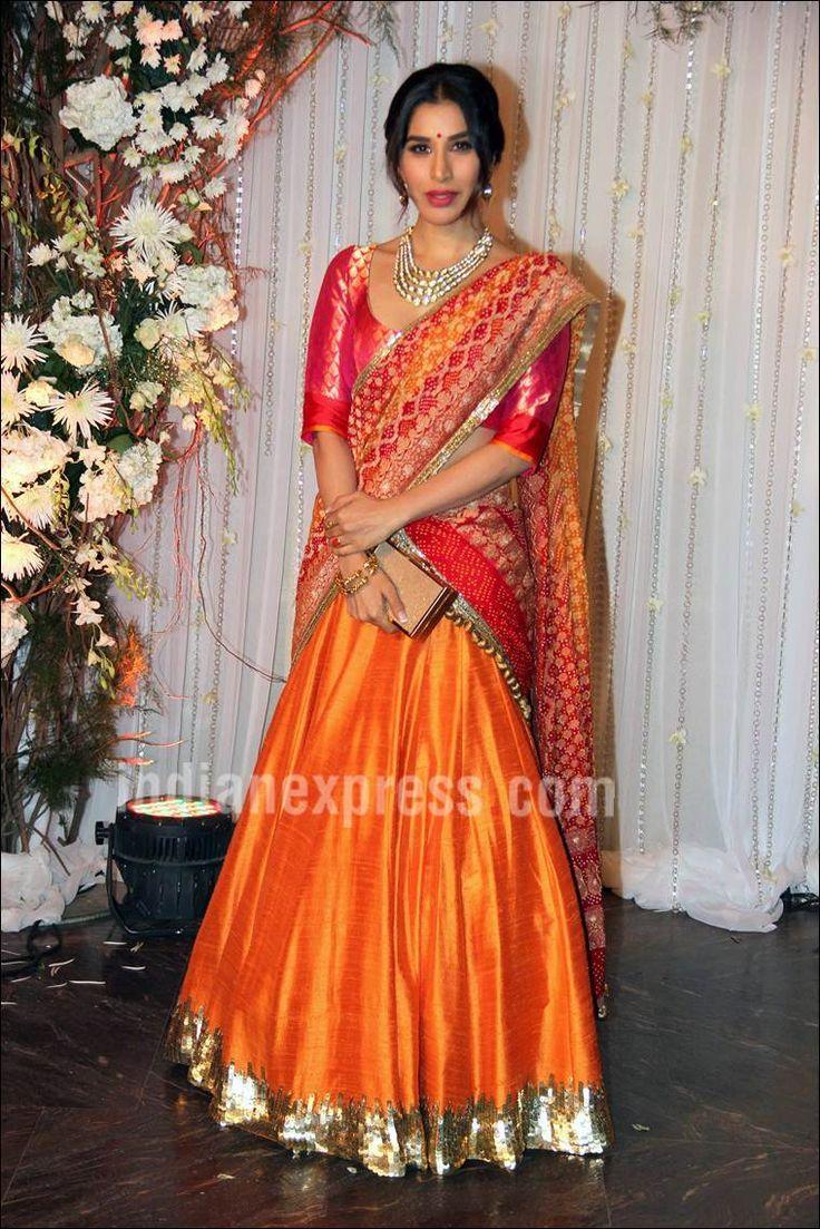 Sophie chaudhary in BIPASHA AND KARAN WEDDING Reception