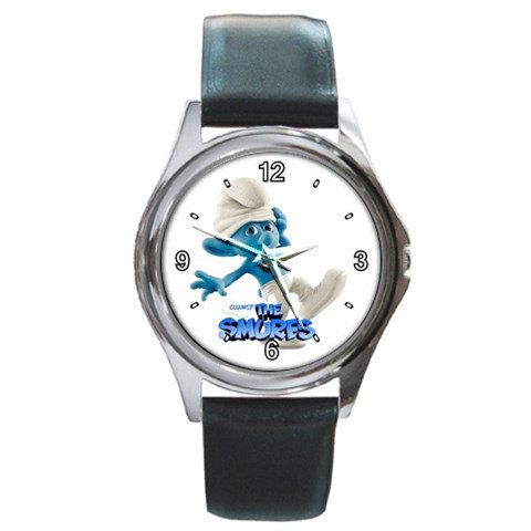 The Smurfs 2 Clumsy design round metal watch by awrelieaccessories