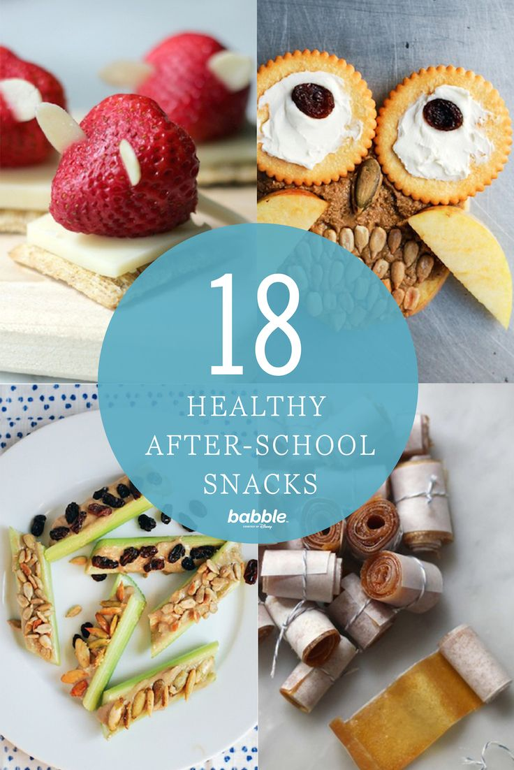 When the kids come home from school the first thing they want before homework is a snack. Make it a healthy one! From strawberry mice and cheese to apple peanut butter owls, you need to try out one of these 18 healthy recipes.