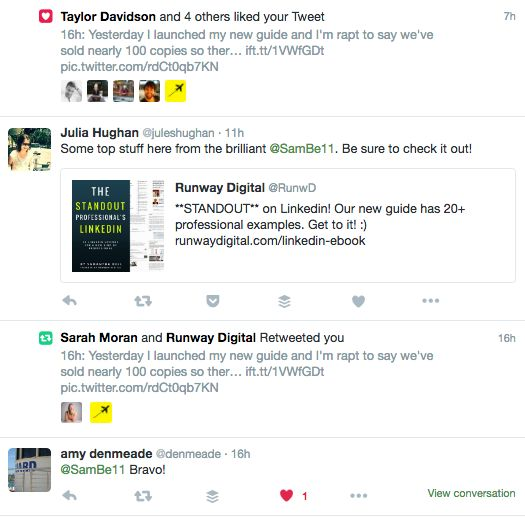 Great response to our Linkedin guide via Twitter :)