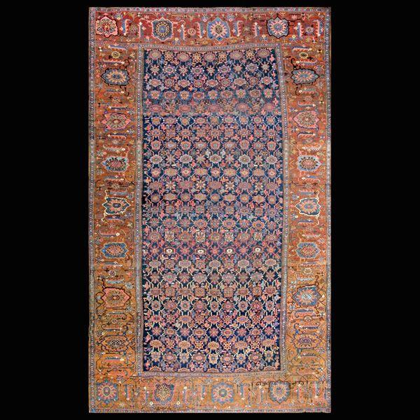 #Antique #Rugs #PersianFormal  Stock Id: #4085 General Rug Type:      Persian Formal Specific Rug Type:      Bijar Circa: 1910 Color: Blue Origin: Persia Width: 11' 4'' ( 345.4 cm ) Length: 19' 0'' ( 579.1 cm )