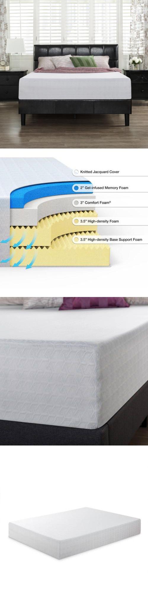 Bedding: Spa Sensations 12 Gel Memory Foam Comfort Mattress Twin Full Queen King Size -> BUY IT NOW ONLY: $233.9 on eBay!
