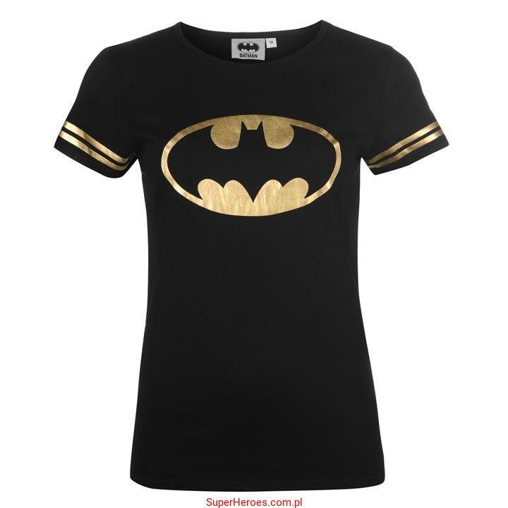 Damska koszulka Batman w złocie