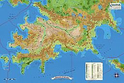 Calidar: Emirates of Narwan Topographical and Hex Maps