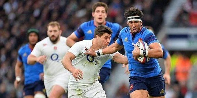 Maxime Mermoz Angleterre/France 6 nations 2015