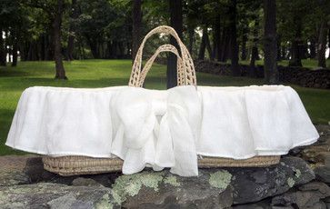 Lulla Smith Moses Basket Sorrento Organic Cotton and Laundered Linen modern-cradles-and-bassinets