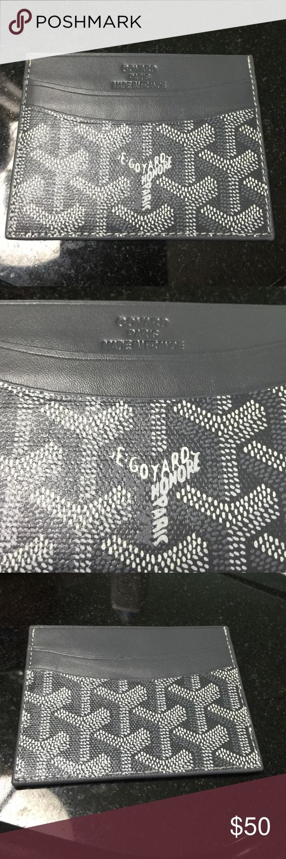 Gray goyard cardholder wallet Price reflects. Never used and great quality Bags Wallets