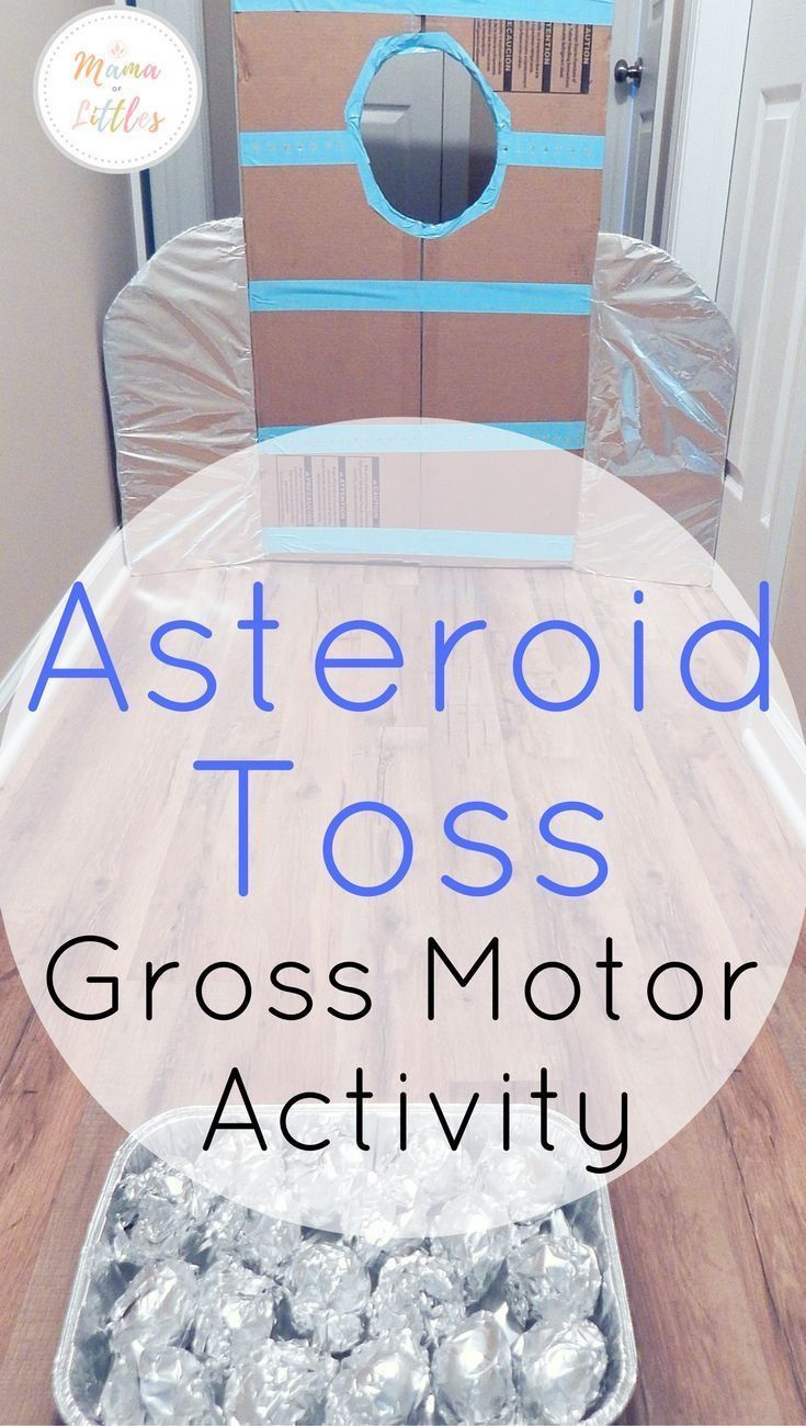 Small asteroid toss game for the kids and coloring