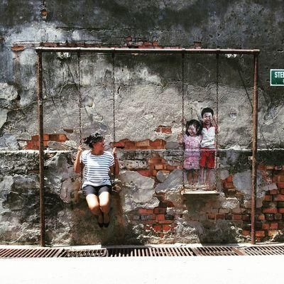 Things to do in #Penang: Pose with Street Art. Carissa Morais (@cessamaee) | Twitter