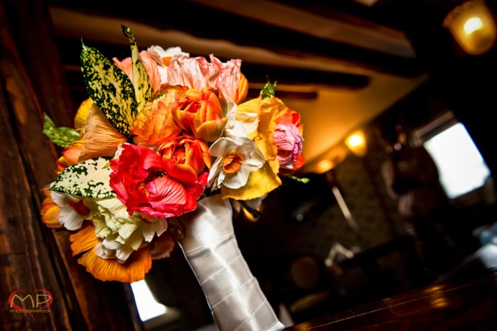 Wedding in Venice / Super colorful flowers for this Bride's bouquet!