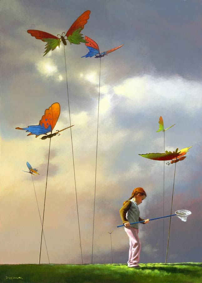 Butterfly catcher by Jimmy Lawlor - PRINT - The Keeling Gallery ...