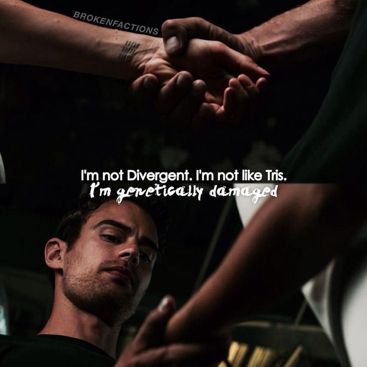 ALLEGIANT. This is just sad when he finds out he is genetically damaged and not pure