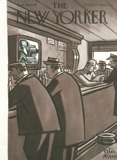 The New Yorker Cover - January 29,1949 - Peter Arno