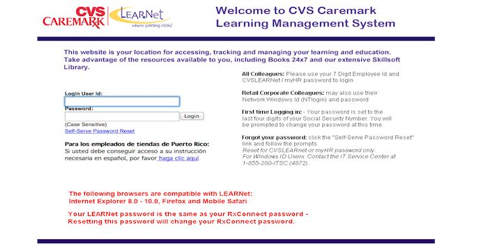 cvslearnet.cvs com