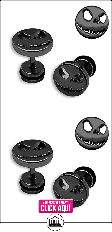 1 par Soul cats® Fakeplugs Fake Plug tachona los pendientes Pesadilla de Halloween Jack Skellington, Color: negro  ✿ Joyas para mujer - Las mejores ofertas ✿ ▬► Ver oferta: http://comprar.io/goto/B00U65I3KS