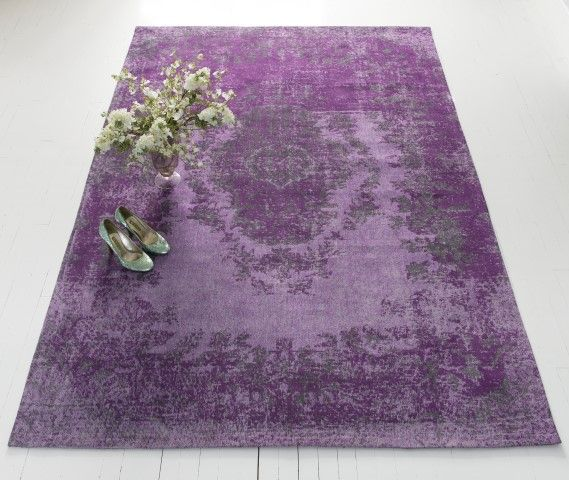 Brand new royal purple rug from The French Bedroom Company
