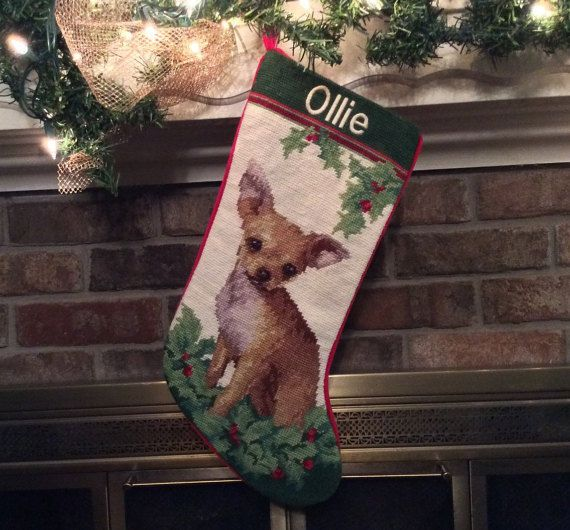 Chihuahua Personalized Needlepoint Christmas by BABarkerGifts