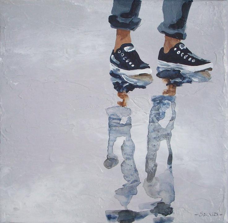 - SAND - acrylic paint