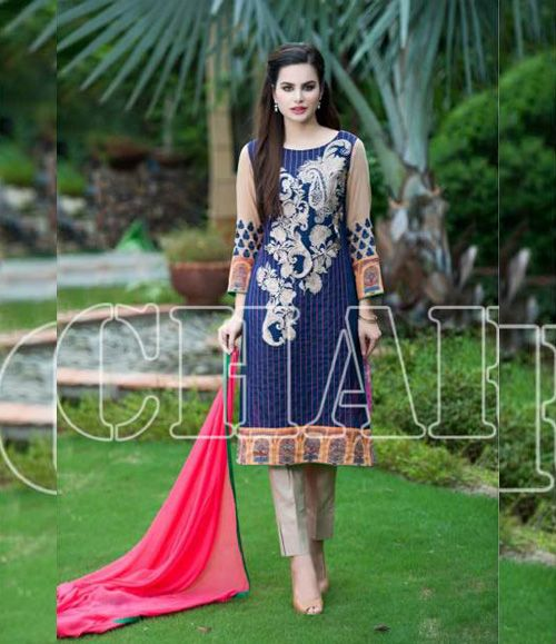 Charizma Range Vol-3 Luxury Lawn Embroidered Collection CR-612