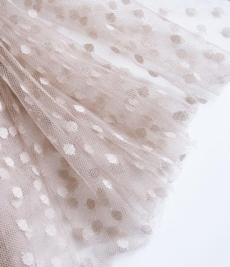 "Mink spot tulle fabric - 44"" wide - sold per metre. $12.50, via Etsy."