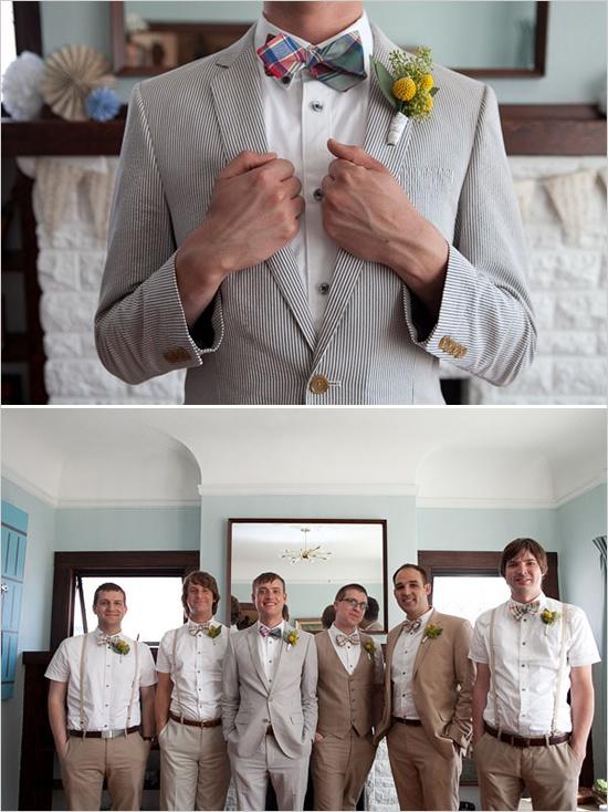 groomsman wedding ideasGroomsman Outfit, Bows Ti, Backyards Wedding, Groomsman Photos, Wedding Ideas, Groomsmen Photos, Groomsmen Style, 1960S Backyards, Fall Wedding
