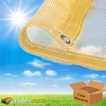 Tan Mesh Tarps - Shade Screens