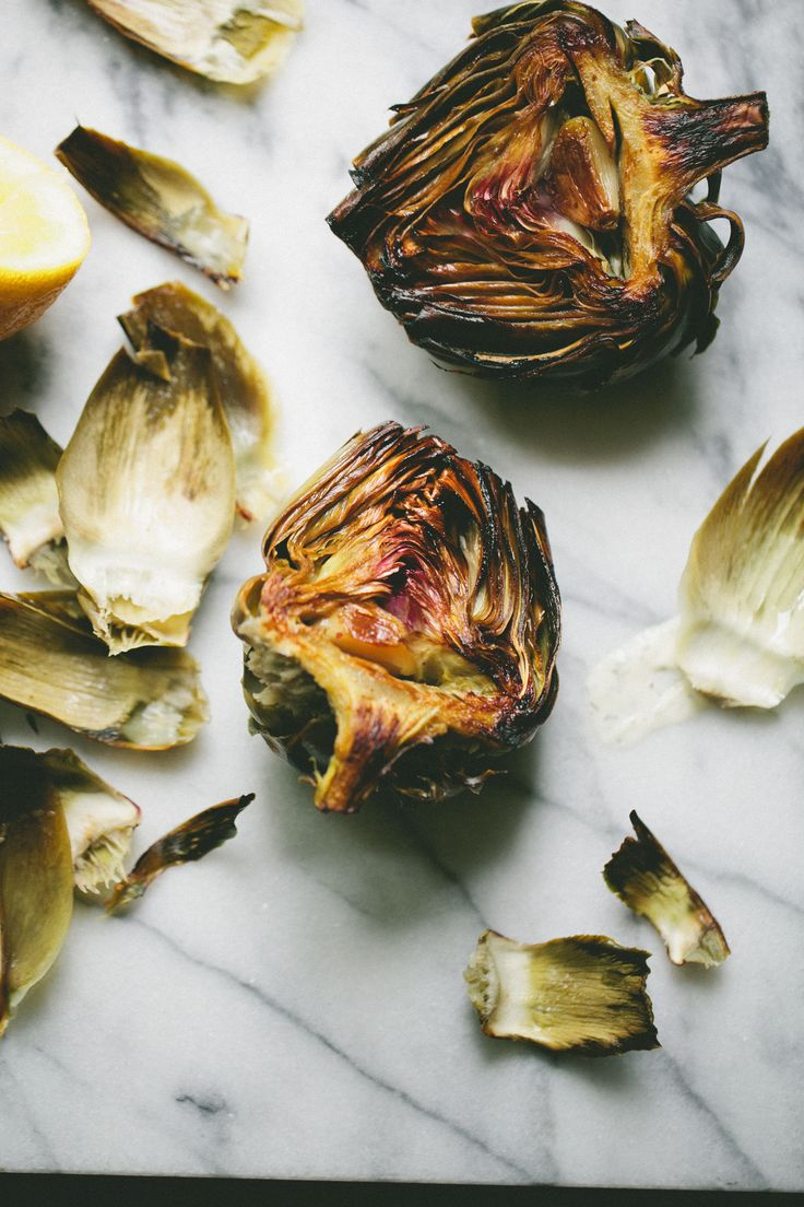 Lemon and Garlic Roasted Artichokes - If you've only ever steamed or boiled your artichokes, try this method. The lemony, garlicky oil infuses the artichokes and makes a dipping sauce unnecessary (although feel free to dip them in dilly mustard for Phase 3!)