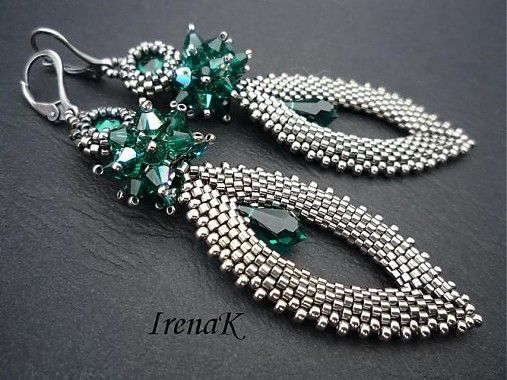 a piece of luxury / swarowski, miyuki beads, sterling silver findings