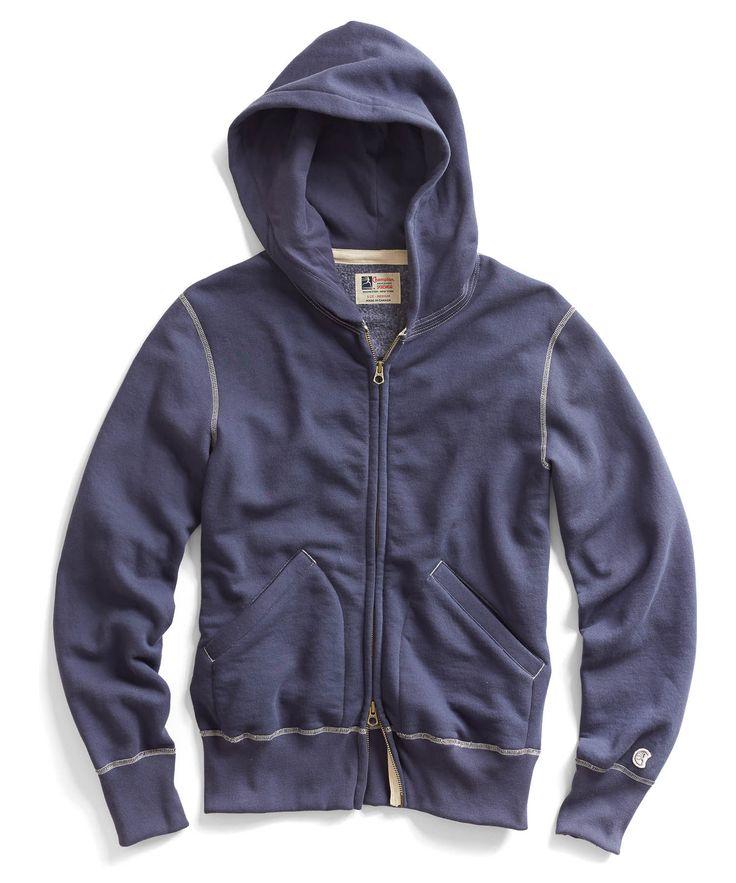 Vintage Full Zip Hoodie in Mast Blue R