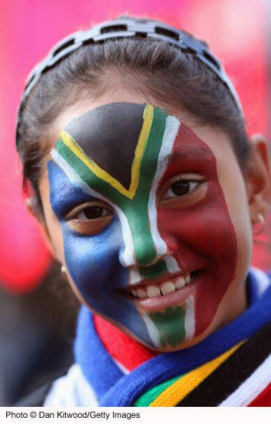 South African flag - the face of a nation.