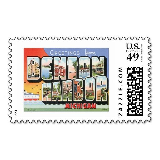 87 best greetings from michigan images on pinterest post cards benton harbor postage stamps post card michigan stamps m4hsunfo Images