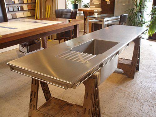 Die besten 25+ Benutzerdefinierte arbeitsplatten Ideen auf - küche mit edelstahl arbeitsplatte