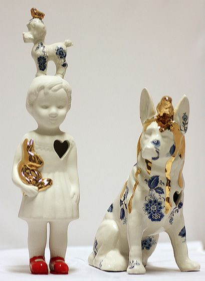 Clonette doll by Lammers en Lammers, two Dutch sisters who make traditional Dutch figures in porcelain | fuori mercato