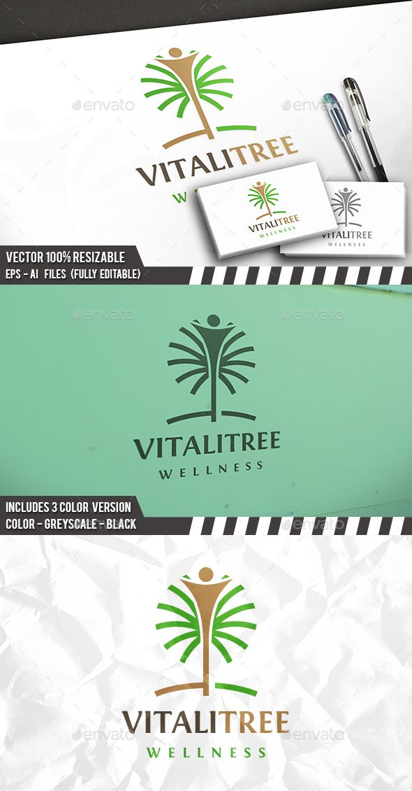 Human Tree Logo — Vector EPS #nature #organic • Available here → https://graphicriver.net/item/human-tree-logo/14110440?ref=pxcr