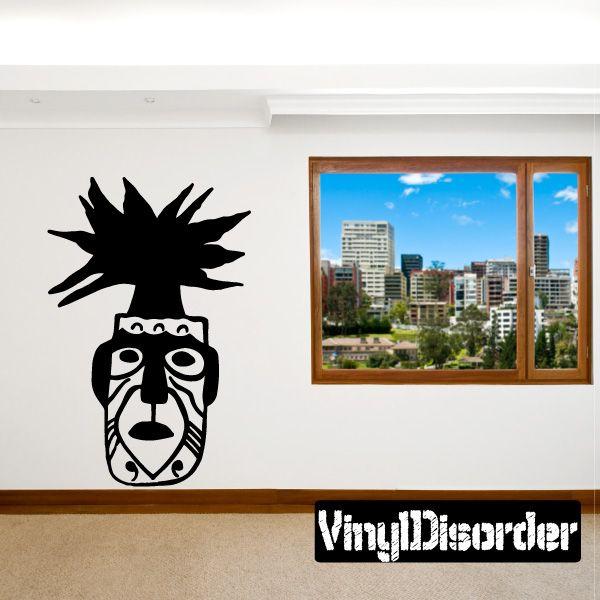 Tribal Head Southwestern Wall Decal - Vinyl Decal - Car Decal - 014