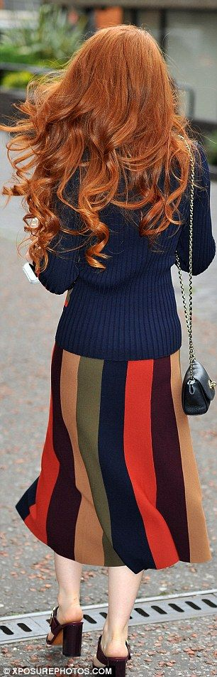 BFFs: The 30-year-old flame-haired beauty also discussed her firm friendship with Cheryl and Kimberley Walsh