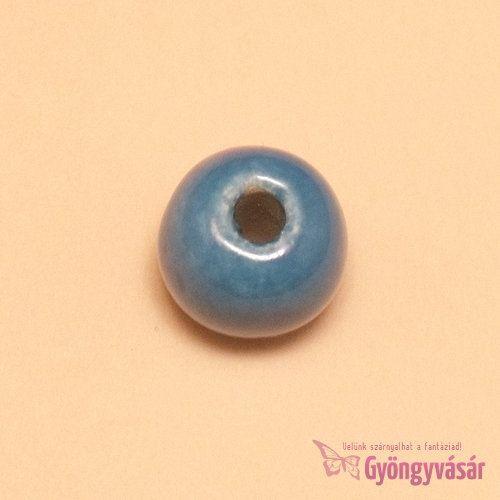 Fecskekék, 14 mm-es perui kerámia gyöngy • Gyöngyvásár.hu