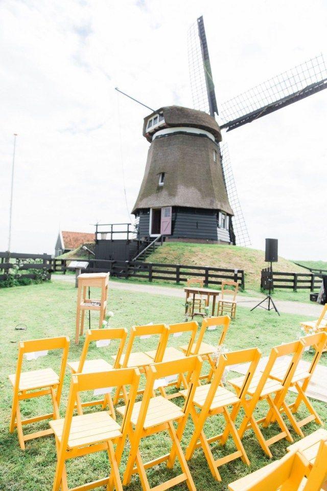 Trouwen onder een oer-Hollandse molen | ThePerfectWedding.nl