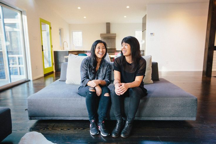 """It's super satisfying to take an idea and manifest it, but also do it with friends and family."" -Lindsay and Christy, sisters building a house together in the Catskills, saving lime green doors and concrete countertops on Pinterest"