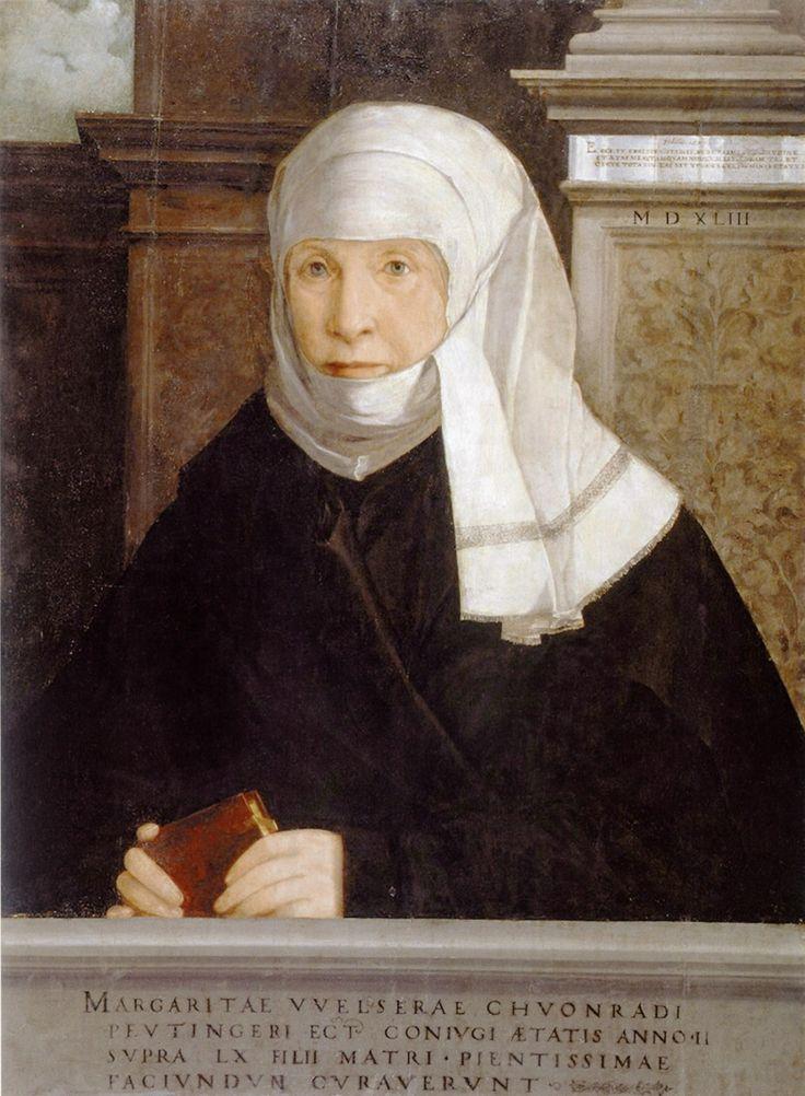 Artist: Amberger, Christoph, Title: Margarethe Peutinger geb. Welser (Ehefrau des Konrad P.), Date: 1543