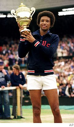 Arthur Ashe- the first African-American to win Wimbledon 1975