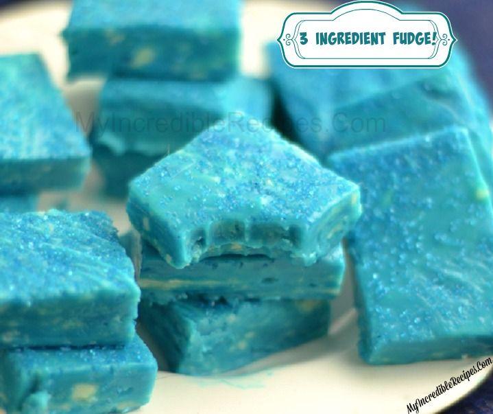3 Ingredient Fudge! - Make Any color!