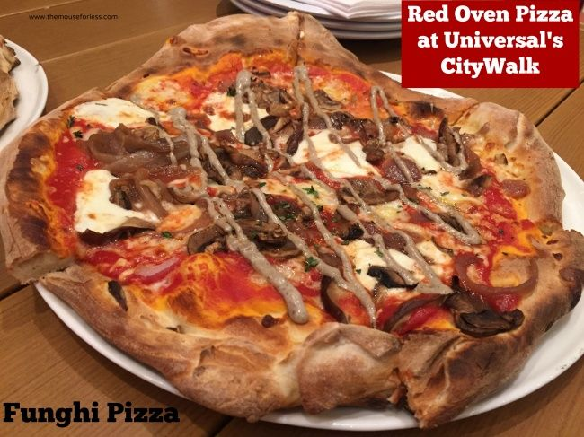 red oven funghi pizza from Red Oven Pizza t Universal Orlando's CityWalk