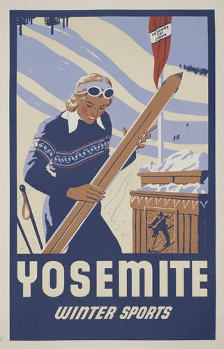 Ha: Vintage Posters, Vintage Skiing, Real Estates, Yosemite Skiing, Travel Posters, Vintage Travel, 1940S Yosemite, Winter Sports, Skiing Posters
