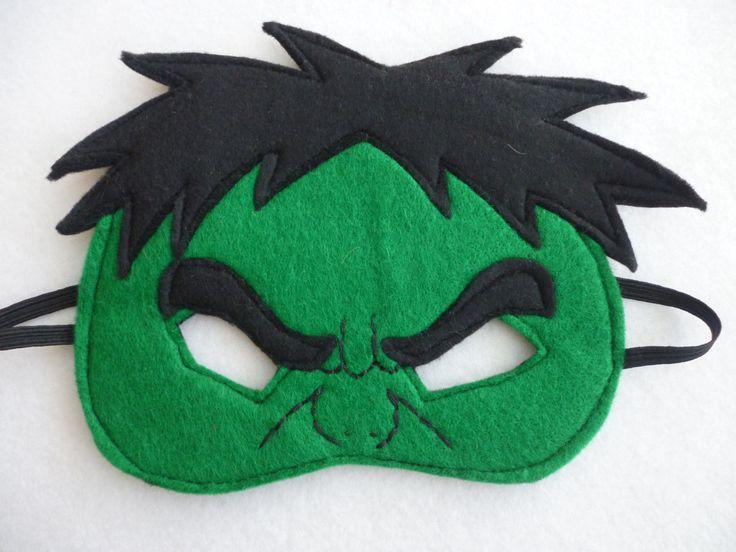 Angry hulk half face mask for children costume by MummyHughesy