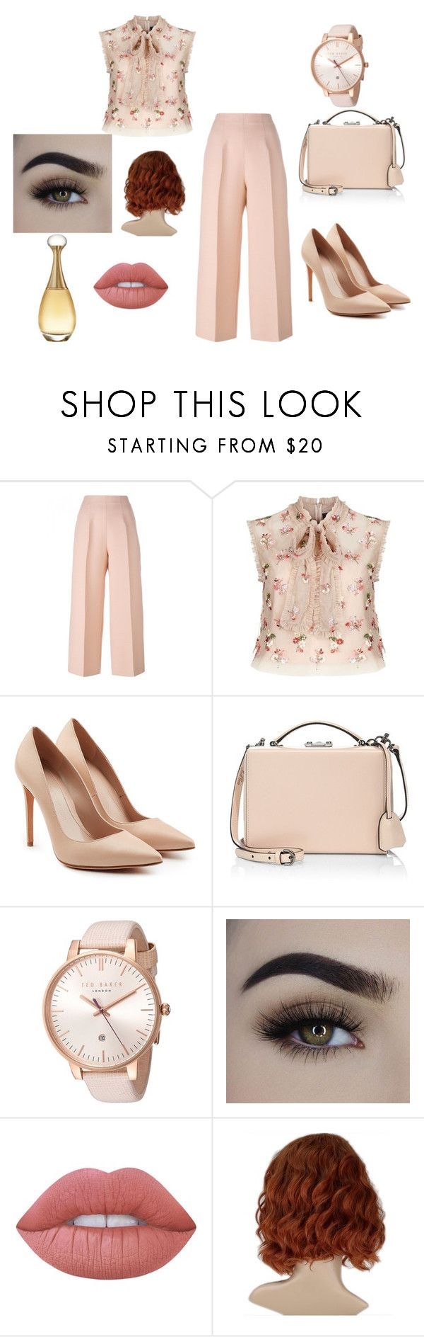 """""""Nude and Pink"""" by zeynepkilic889 on Polyvore featuring moda, Fendi, Needle & Thread, Alexander McQueen, Mark Cross, Ted Baker, Lime Crime ve Christian Dior"""