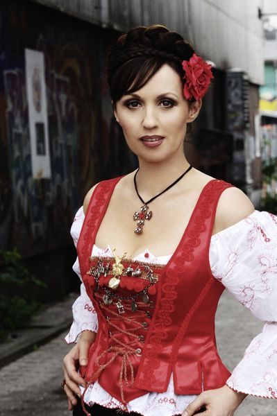 sexy schwarze Angelika